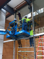 Construction underway<br> for the USBT Lobby Renovation